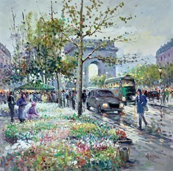 City Flowers by Henderson Cisz -  sized 20x20 inches. Available from Whitewall Galleries